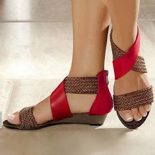 Women's Knit Wedge Heel Sandals (1363241)