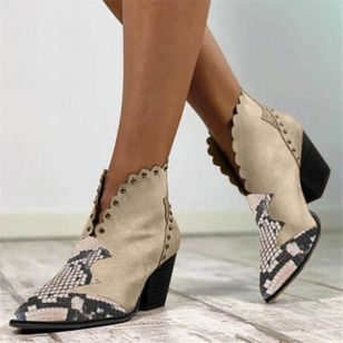 Women's Ankle Boots Pointed Toe Heels Chunky Heel Boots (110711725)