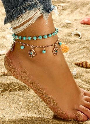 Casual Geometric Anklet (147220972)
