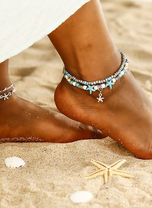 Casual No Stone Ball Anklet (1536758)