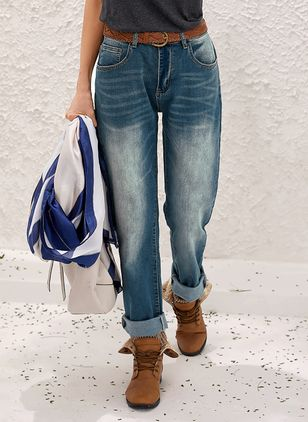 Women's Straight Jeans Pants (1537288)