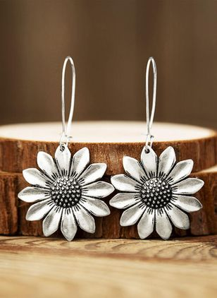 Casual Floral Dangle Earrings (147194456)