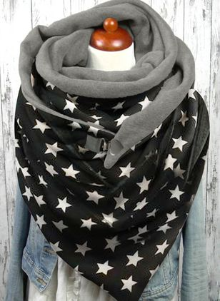 Casual Geometric Scarves (146785306)