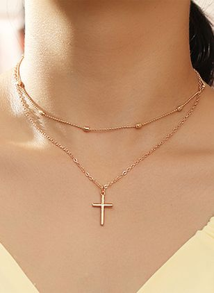 Casual Cross Pendant Necklaces (147194564)