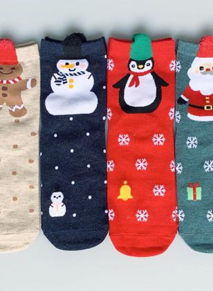 Women's Christmas Cotton Socks & Hosiery Ankle Socks Socks (128229001)
