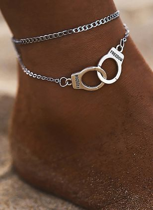 Casual No Stone Geometric Anklet (4209515)