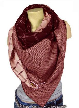 Casual Check Scarves (122030590)