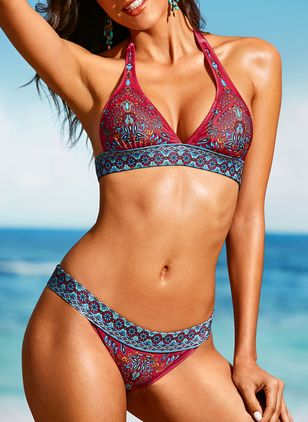 Polyester With Rim Bikinis Swimwear