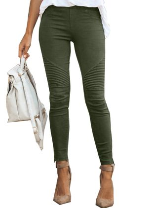 Casual Skinny Mid Waist Cotton Blends Leggings (4355933)