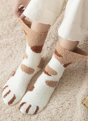 Women's Casual Polyester Stockings & Tights Crew Socks Socks (128229008)