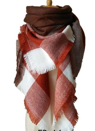 Casual Check Scarves (122028784)