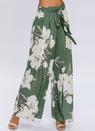 Loose High Waist Polyester Pants (1354951)