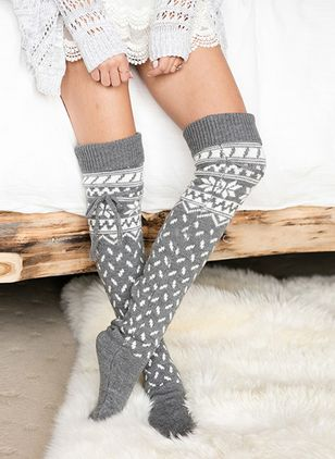 Women's Casual Acrylic Stockings & Tights Thigh High Stockings Socks (128229004)