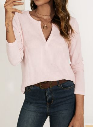 Others Solid Casual Loose Regular None Sweaters (106588157)