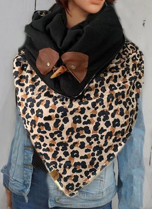 Casual Leopard Scarves (131284906)