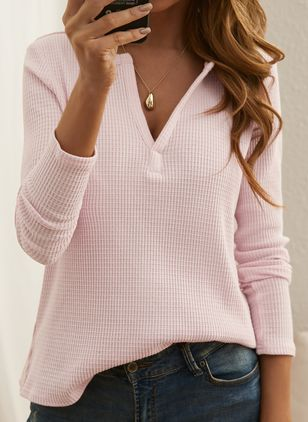 Others Solid Casual Loose Regular None Sweaters (146909253)