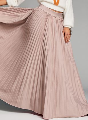 Solid Maxi Casual Skirts (1419843)