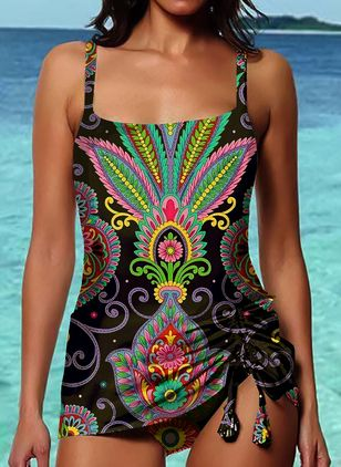 Bikinis & Maillots de bain Tankinis Florale Polyester