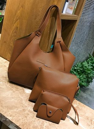 Tote Zipper Double Handle Bags