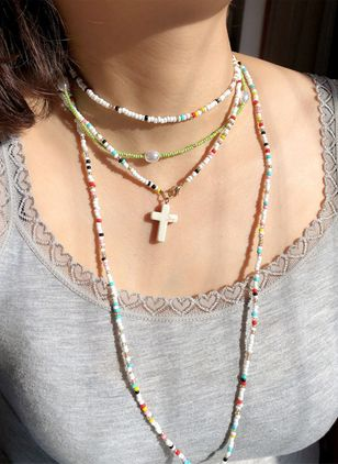 Casual Cross Pendant Necklaces (147197319)
