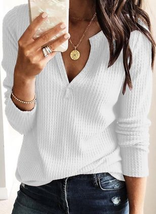 Others Solid Casual Loose Regular None Sweaters (110711737)